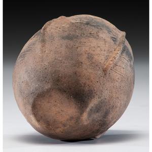 A Mississippian Pottery Jar, 5-1/4 x 4-1/2 in.
