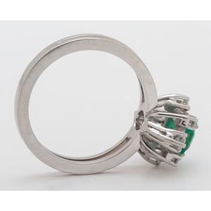 F&F Felger Emerald and Diamond Ring In Platinum