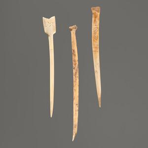 Three Bone Hairpins, Longest 5-1/2 in.