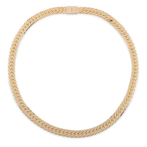 14 Karat Yellow Gold Flat Herringbone Chain