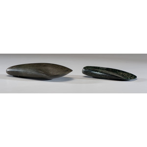 Two Polished New Guinea Celts, Longest 6-3/4 in.