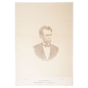 The Last Photograph of Abraham Lincoln, Large Format Albumen Photograph by Warren, in Rare Largest Size