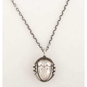 Georg Jensen Sterling Silver Acorn Necklace