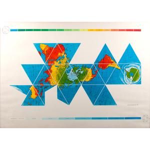 Buckminster Fuller (American, 1895-1983) Screenprint