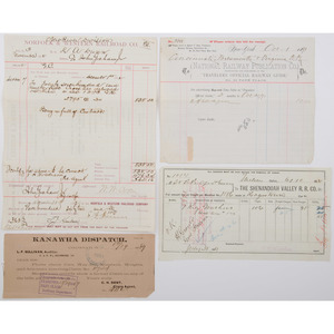 Large Collection of Railroad Documents, Lot of 15