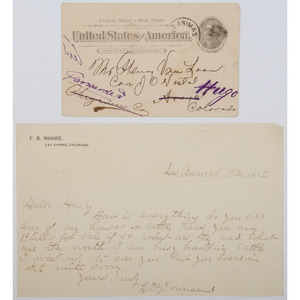 Cattle Drive Correspondence, ca 1890s
