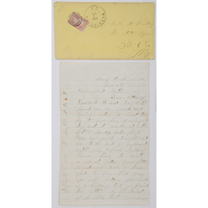 Civil War Letter, Private James M. Williams, 109th NY Volunteer Infantry, 1864