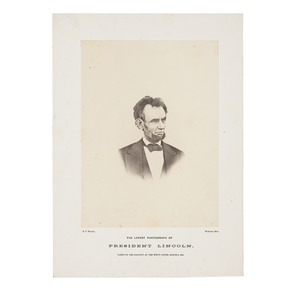 The Last Photograph of Abraham Lincoln, Albumen Photograph by H.F. Warren
