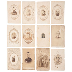 Civil War CDV Collection, Lot of 19