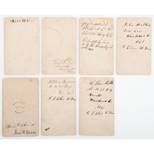 Civil War CDV Collection, Lot of 19