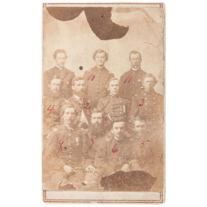 Major General George W. Getty and Sixth Army Corps Staff CDV Portrait