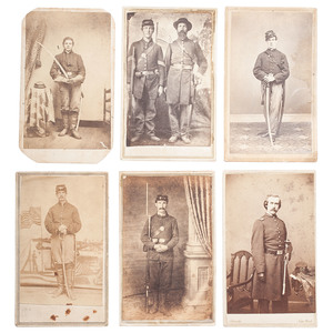 CDV Collection of Armed Union Officers and Soldiers
