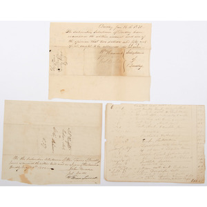 Documents Related to the Nipmuck Tribe, Dudley, MA, ca 1820s-30s, Plus