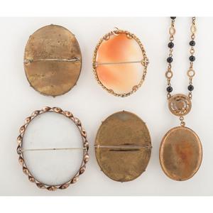 Assortment of Portrait Jewelry, Lot of Five