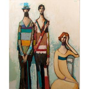 David Adickes (American, b. 1927) Oil on Board