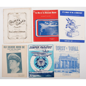 19th and 20th Century Sheet Music, Including WWII, Lot of 9