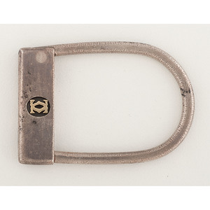 Cartier Sterling Silver and 18K Gold Keyring