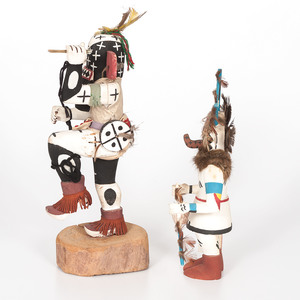Hopi Ewiro, Warrior and Ahola, Germ God Katsinas, From the Collection of Charles McNutt, Sr.