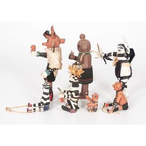 Hopi Koshari and Koyemsi Katsinas, From the Collection of Charles McNutt, Sr.