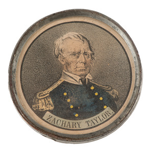 Zachary Taylor and Millard Fillmore Pewter Rim Medallion