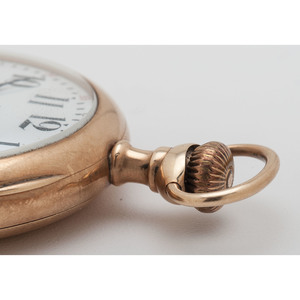 Elgin Open Face Pocket Watch in 14 Karat Yellow Gold Ca. 1904