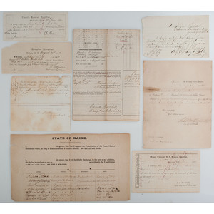 Civil War Hospital Muster Rolls and More, Lot of 9