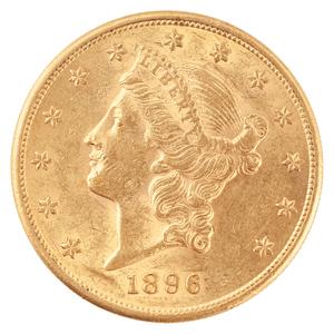 United States Liberty Head Double Eagle 1896-S