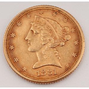 United States Half Eagle 1881