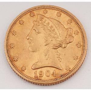 United States Half Eagle 1904