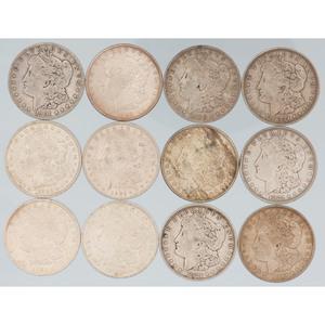 United States Morgan Silver Dollars, Lot of Twelve