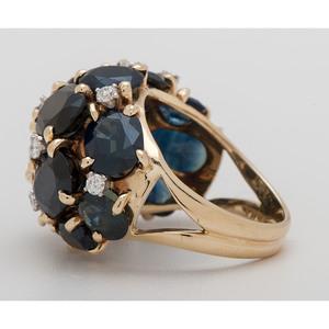Cellino 18 Karat Gold Sapphire and Diamond Ring