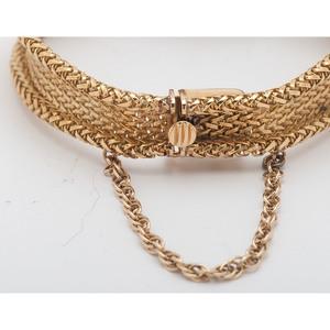 Cellino 18 Karat Yellow Gold Mesh Bracelet Watch