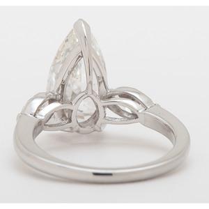 GIA Certified 2.83 Carat Pear Brilliant Cut Diamond Platinum Ring