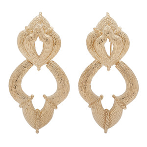 18 Karat Yellow Gold Doorknocker Earrings