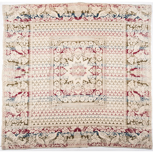 Three-Color Jacquard Coverlet