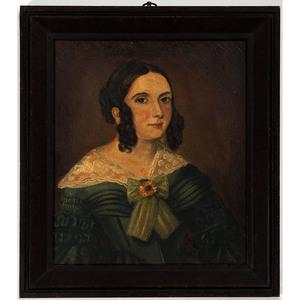 Folk Art Portrait of a Woman