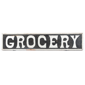 Double-Sided Wood Grocery Sign, Plus
