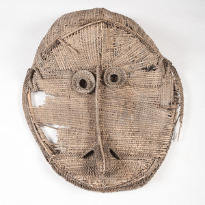 Middle Sepik River Cane Ceremonial House Gable Mask, Istmul culture, East Sepik Province, Papua New Guinea