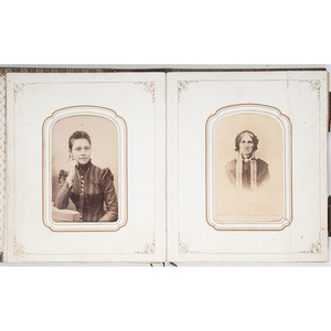 Two CDV Albums Owned by Acting Ensign Stillman W. Ward, USN, USS Eureka