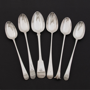 George III Sterling Serving Spoons