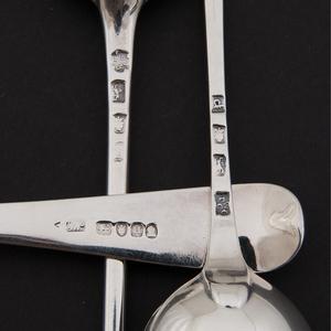 George III Sterling Serving Spoons