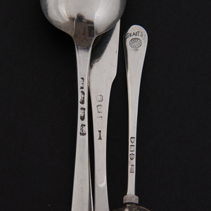 19th-Century British Sterling Flatware