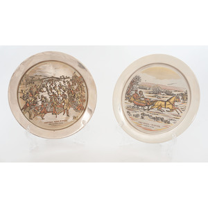 Currier & Ives Sterling Plates