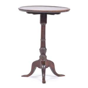 Queen Anne Dish Top Candle Stand