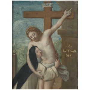 Spanish School, Crucified Christ with Saint Lutgardis