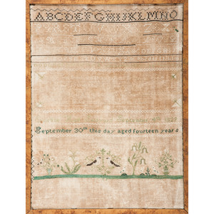 Alphabet Sampler, Dated 1829