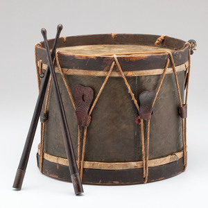 Brass Bodied Military Snare Drum with Sticks