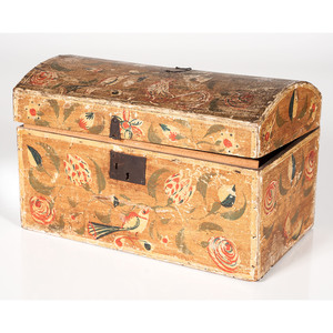 Painted Dome-top Trunk