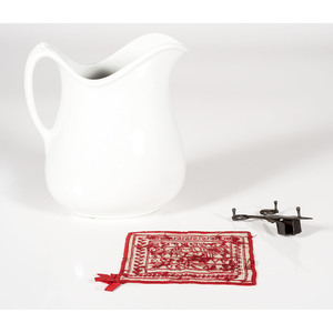Sampler, Pitcher, and Candle Snuffer