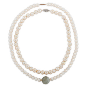 Pearl Necklaces with 14 Karat Gold Clasps